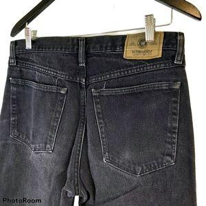Wrangler Black Men's High Rise Straight Jeans 32